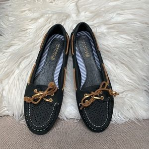 Woman's Laser Cut Sperry Loafers